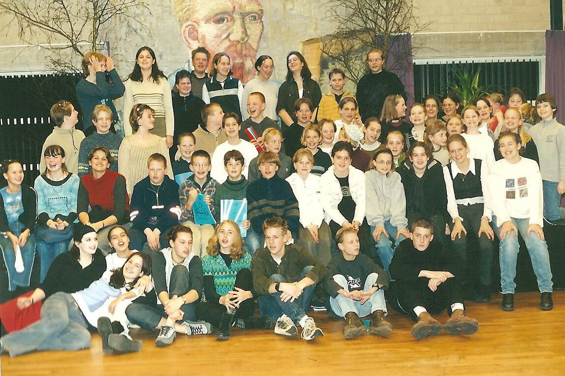 Groepsfoto Repelsteeltjes 2000 Midzomernachtsdroom